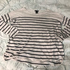 H&M BASIC Lightweight Striped Sweater Size Small
